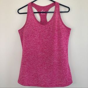 Nike heathered pink racerback dry fit tank